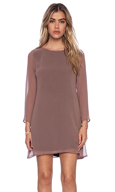 Show Me Your Mumu Witcher Dress in Mushroom Sheer Chiffon