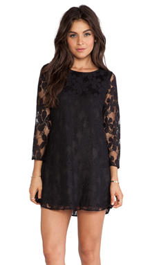 Show Me Your Mumu Witcher Dress in Black Falling Lace