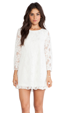 Show Me Your Mumu Witcher Dress in White Falling Lace