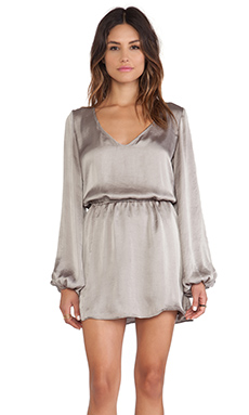 Show Me Your Mumu Rainey Mini Dress in Silverdollar Silky Satin