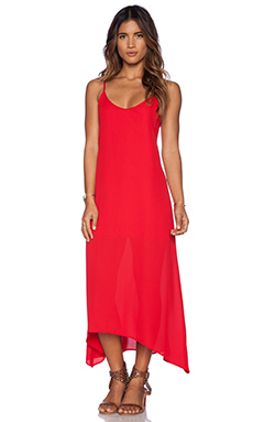 Show Me Your Mumu Taryn Strap Back Dress in Holiday Crisp