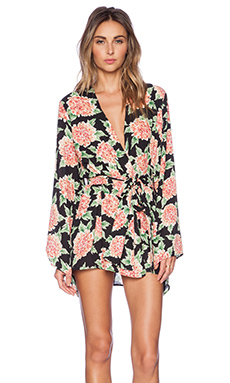 Show Me Your Mumu Beaux Beaux Kimono Dress in Flowerpuff Girls
