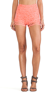 Show Me Your Mumu Sienna Lace Short in Coral
