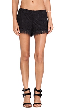 Show Me Your Mumu Bri Lacey Short in Black Falling Lace