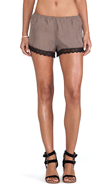 Show Me Your Mumu Bri Lacey Short in Toffee Silky Satin
