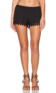 Show Me Your Mumu Bri Lacey Short in Black Crisp