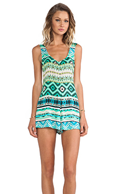 Show Me Your Mumu Bently Romper in Spearmint Trail