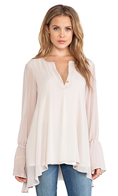 Show Me Your Mumu Perveen Pirate Tunic in Stone Sheer Chiffon