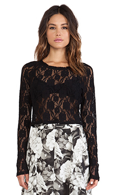 Show Me Your Mumu Cher Crop Top in Blooming Lace Black