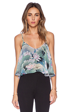 Show Me Your Mumu Charlie Crop Top in Water Lily