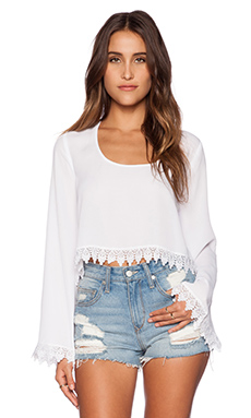 Show Me Your Mumu Chappell Top in White Crisp