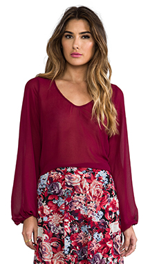 Show Me Your Mumu Chelsey St. Gaudens Blouse in Aunt Ruby