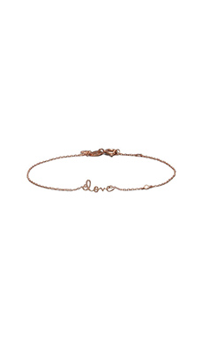 Shy by Sydney Evan Love Bracelet with Diamond Bezel in Rose Gold