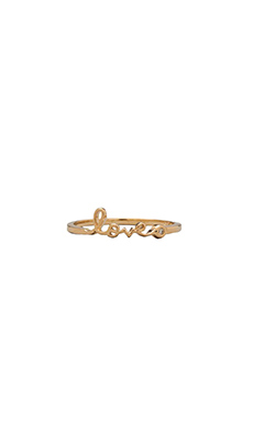 Shy by Sydney Evan Love Ring with Diamond in Yellow Gold