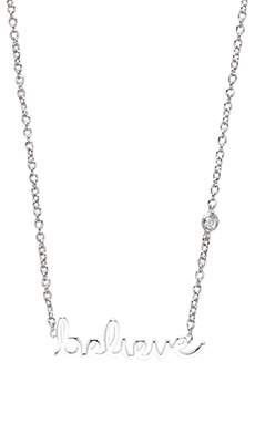 Shy by Sydney Evan Believe Necklace with Diamond in White Rhodium