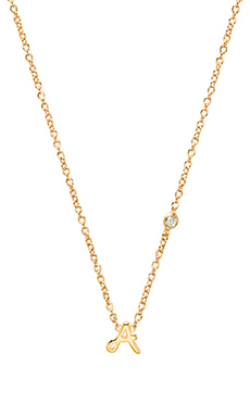 Shy by Sydney Evan A Necklace with Diamond Bezel in Yellow Gold