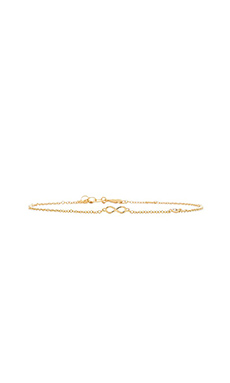 Shy by Sydney Evan Infinity Bracelet with Diamond Bezel in Yellow Gold