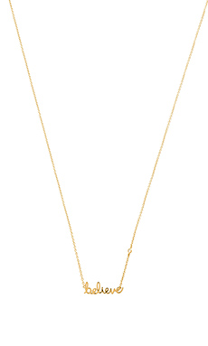 Shy by Sydney Evan Believe Necklace in Yellow Gold