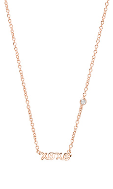 Shy by Sydney Evan XOXO Necklace in Rose Gold