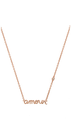 Shy by Sydney Evan Amour Necklace in Rose Gold