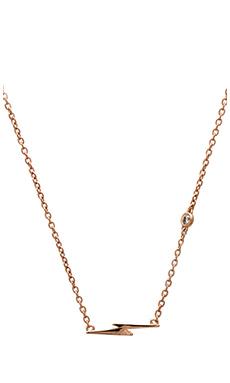 Shy by Sydney Evan Lightning Bolt Necklace in Rose Gold