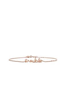 Shy by Sydney Evan Trouble Bracelet with Diamond Bezel in Rose Gold