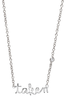 Shy by Sydney Evan Taken Necklace with Diamond Bezel in Sterling Silver