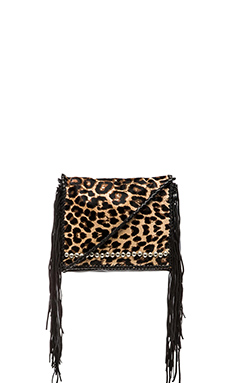 Simone Camille Ade Crossbody in Black & Jaguar Print
