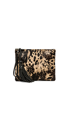 Simone Camille The Dash Clutch in Jaguar Print