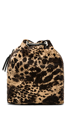 Simone Camille The Midi Backpack in Jaguar Print