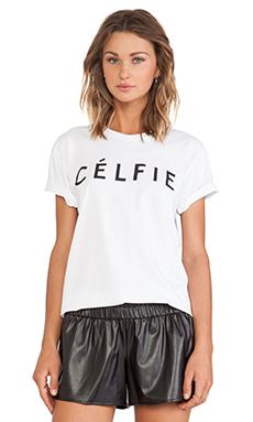 Sincerely Jules Celfie Tee in White