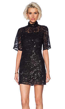 Sister Jane Dark Thorn Lace Dress in Black