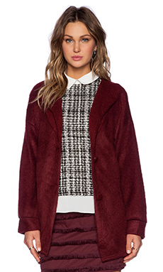 Sister Jane Cocoon Cardigan in Burgundy