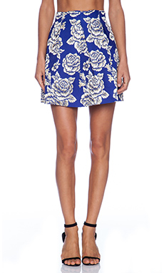 Sister Jane Golden Rose Skirt in Blue