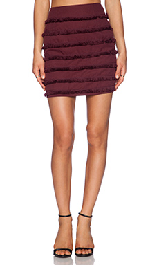 Sister Jane Sugar Plum Fringe Skirt in Plum
