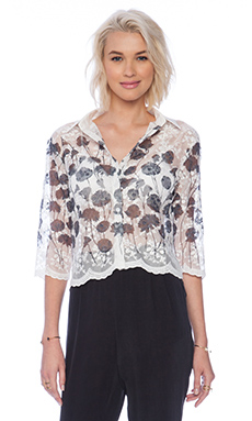 Sister Jane Poppy Lace Blouse in Ivory