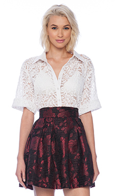 Sister Jane Romantic Lace Blouse in White