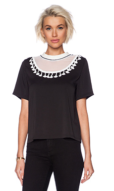 Sister Jane Tassle Crop Top in Black