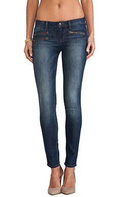 Siwy Mickie Skinny Crop with Zippers in Lust For Life