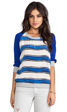SJOBECK Silk Sweatshirt in Cobalt