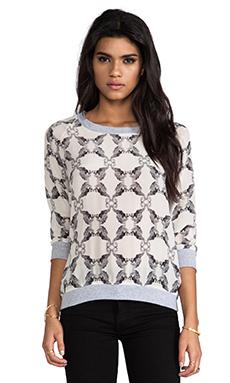 SJOBECK Silk Sweatshirt in Seabra