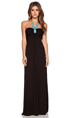 sky Peridot Dress in Black
