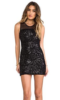 sky Fedia Dress in Black