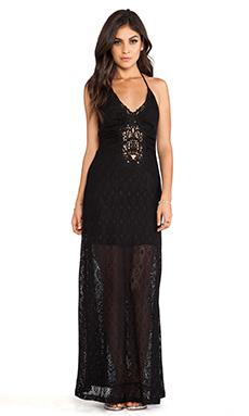 sky Samina Halter Dress in Black