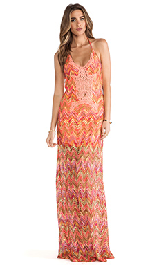 sky Serendip Dress in Coral