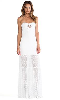sky Samonhe Strapless Dress in White