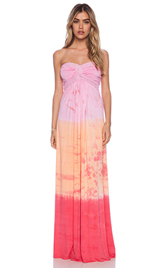 sky Shar Strapless Dress in Pink