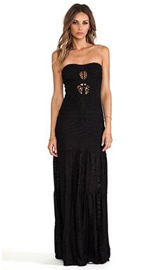 sky Kinthea Maxi Dress in Black