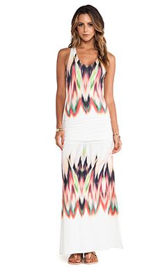 sky Larche Maxi Dress in White