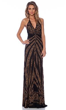 sky Obelia Maxi Dress in Black